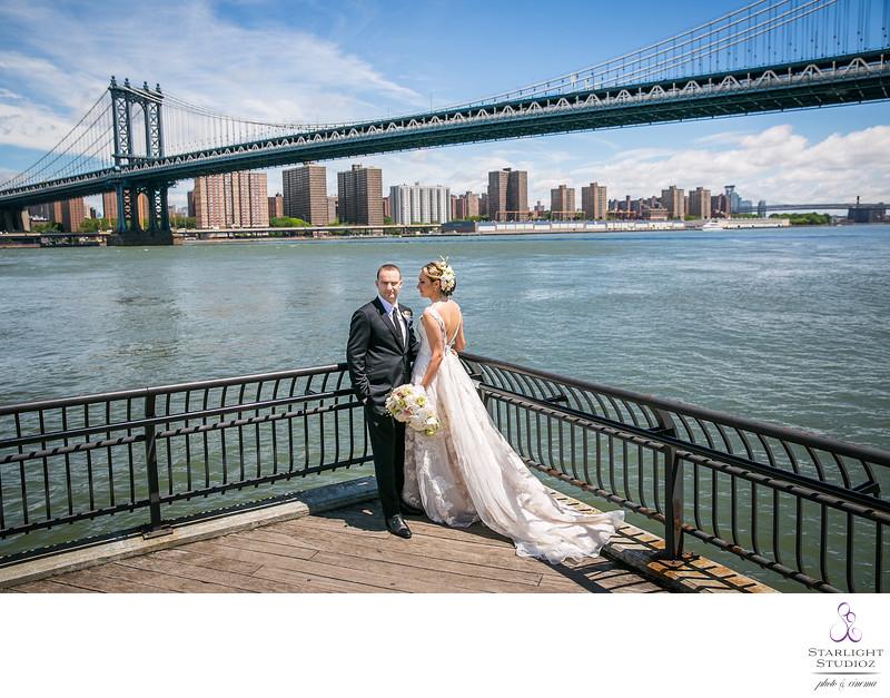 Manhattan Bridge Wedding Photos