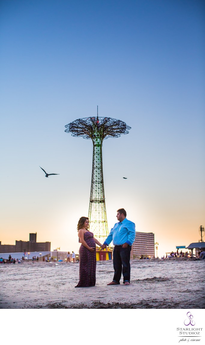 Coney Island Maternity Photographer