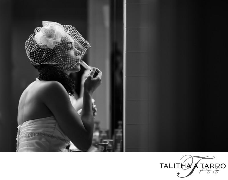 Bride getting ready at Hyatt Regency