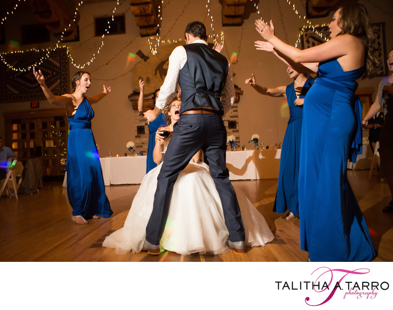 Wedding reception photography at Nature Pointe