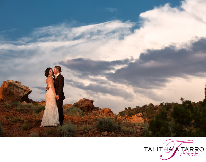 New Mexico landscape wedding