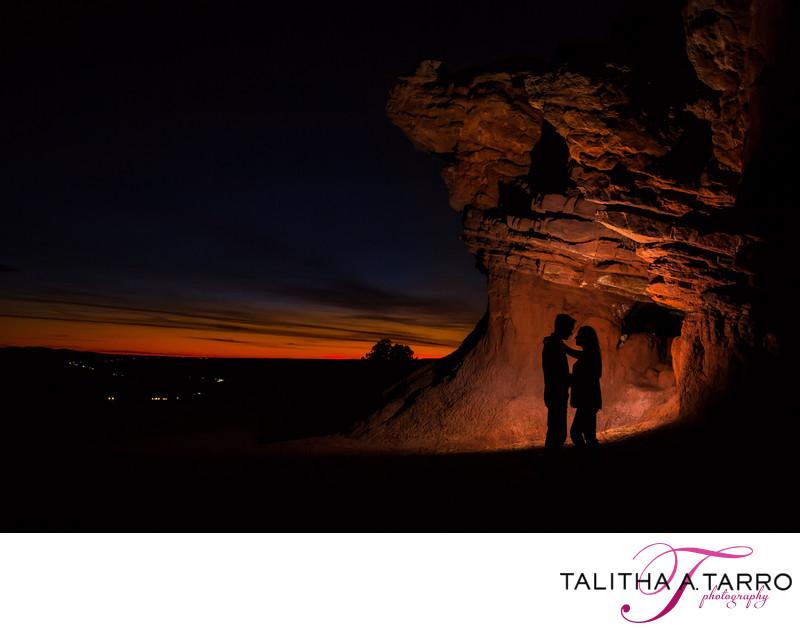 Santa Fe Silhouette Engagement