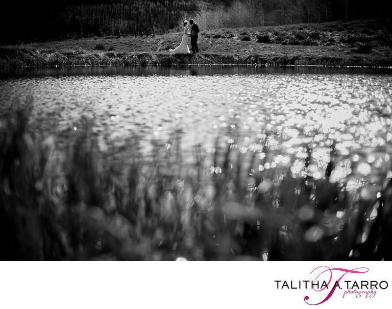 Black and White Wedding Photography Durango CO
