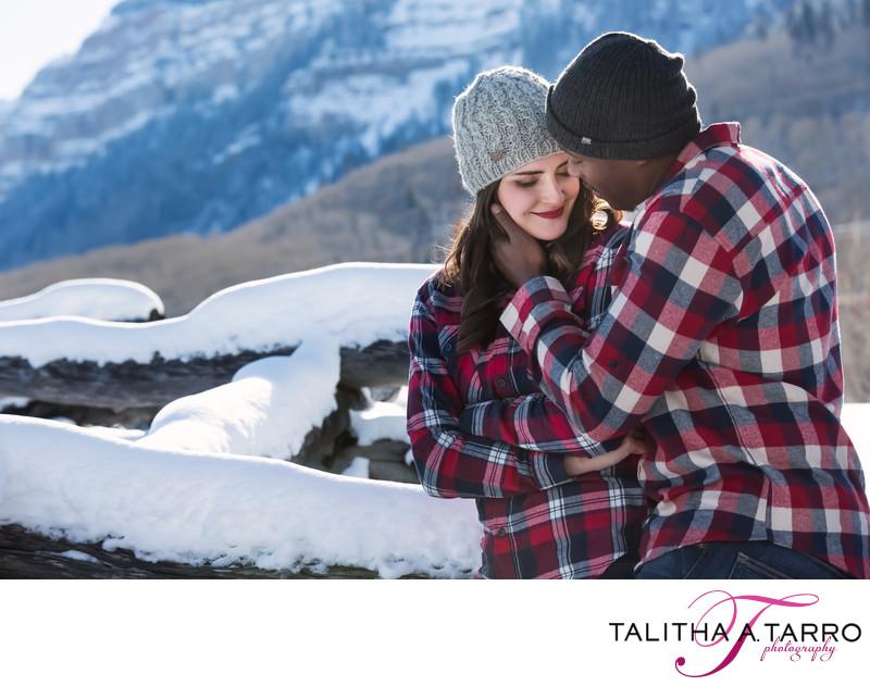 Durango Colorado winter engagement