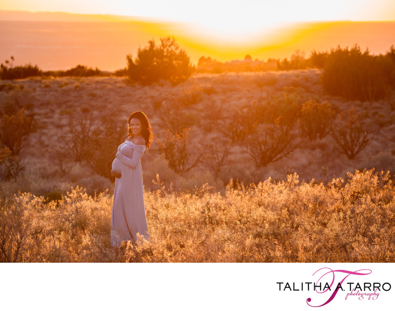 Golden hour maternity session