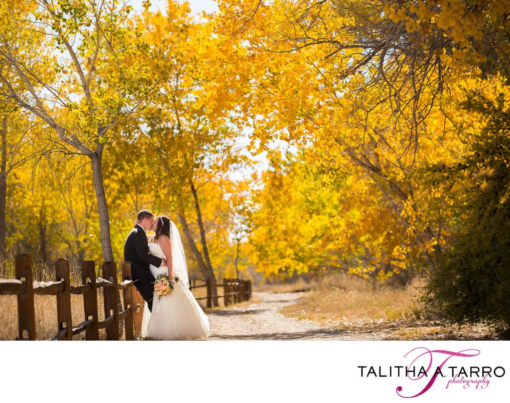Best Autumn wedding portrait at Hyatt Tamaya