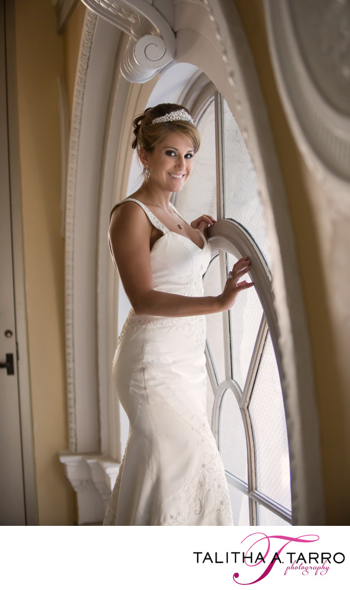 Bride at downtown banque lofts