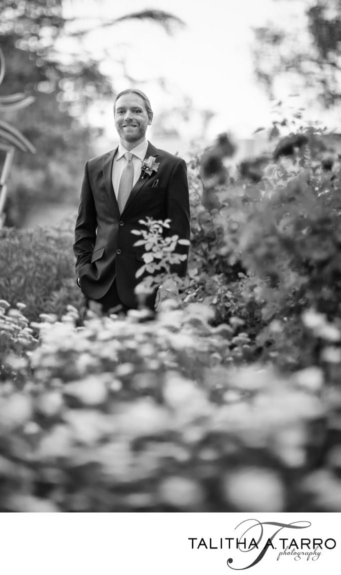 Creative groom portraiture at La Posada
