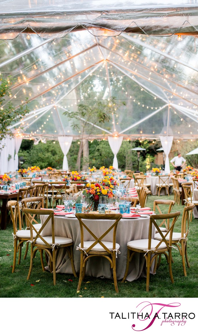 Clear tent wedding reception santa fe
