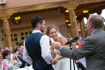 Wedding photo at Nature Pointe in Albuquerque