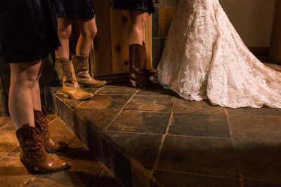 Bridesmaids boots country wedding Durango