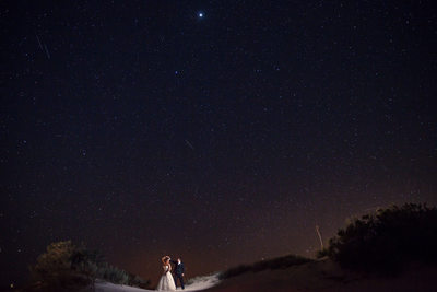 Starry Night Wedding Portrait New Mexico