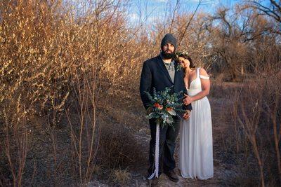 boho wedding couple albuquerque