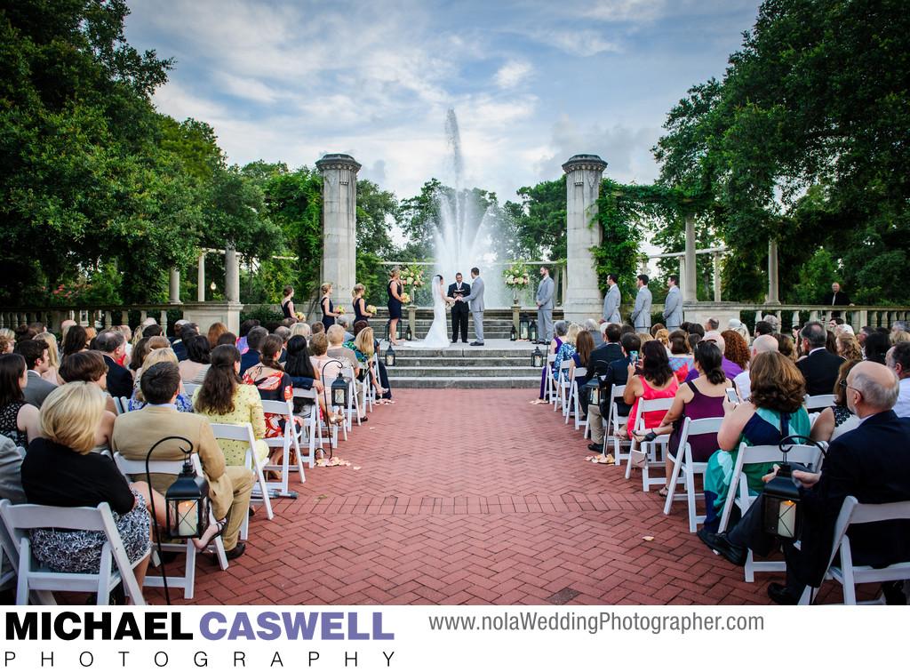 Popp Fountain Wedding Ceremony In City Park