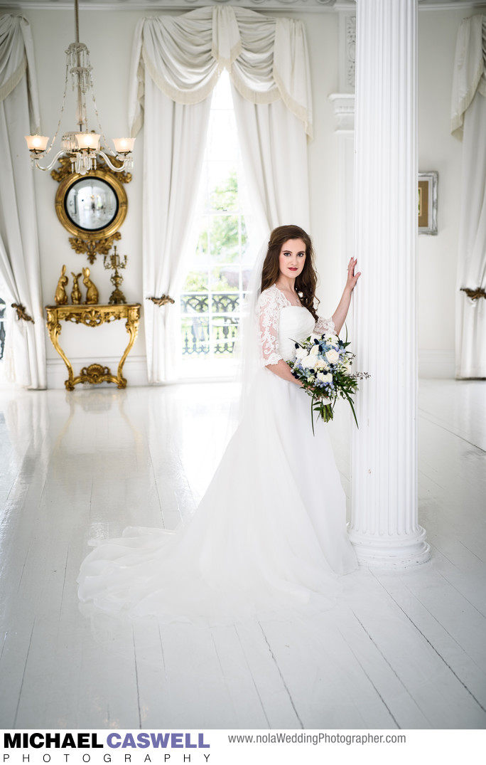 Bridal Portrait at Nottoway Plantation Wedding Venue