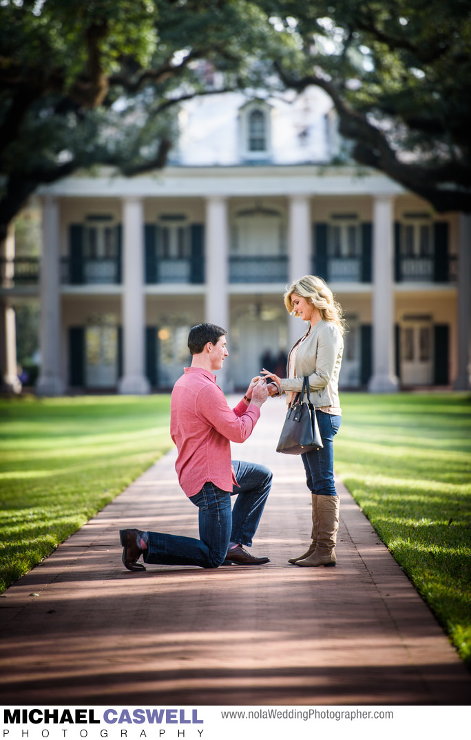 Marriage Proposal at Oak Alley Plantation