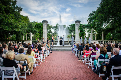 Popp Fountain Wedding Ceremony in City Park