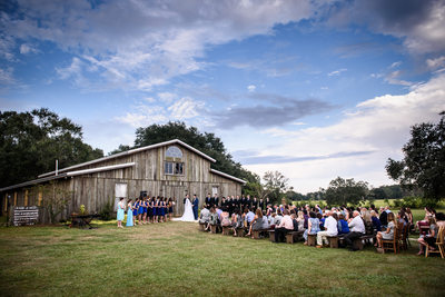 Barn at Sarah Bella Wedding Ceremony in Picayune, MS
