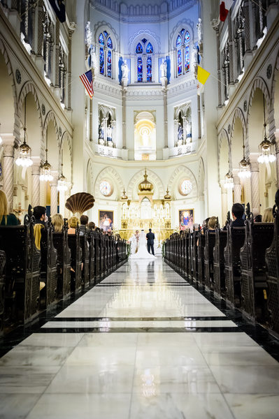 Immaculate Conception Church Wedding Ceremony Photo