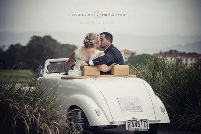 Golf Buggy Hire Wedding Photography