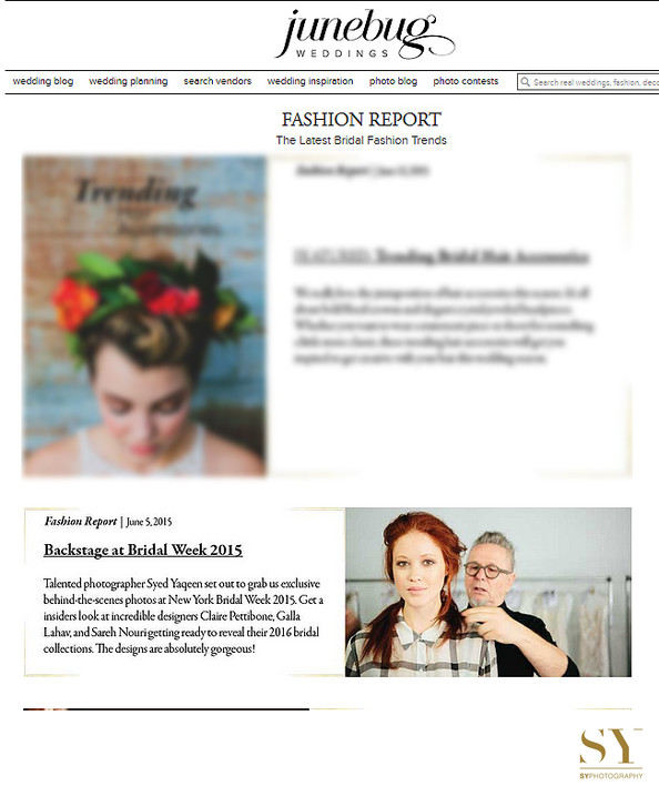 Wedding fashion Bridal Week published Junebug