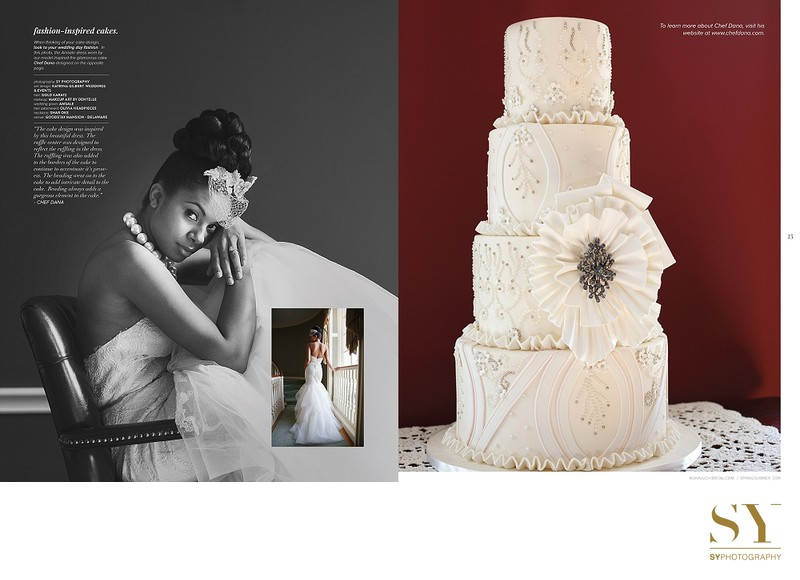wedding cake and fashion Munaluchi Bride magazine summer