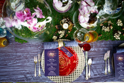 Alice in Wonderland inspired Wedding tablescape
