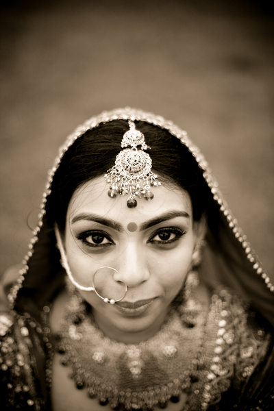 Classic Indian bride portrait NYC photographer