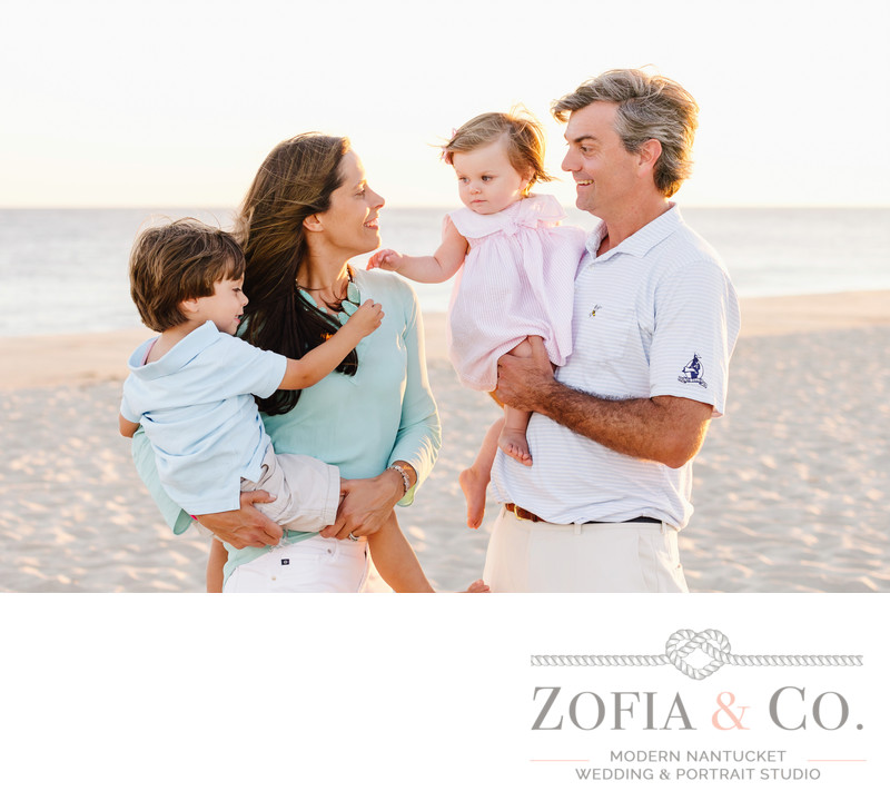 nantucket family photos in miacomet beach