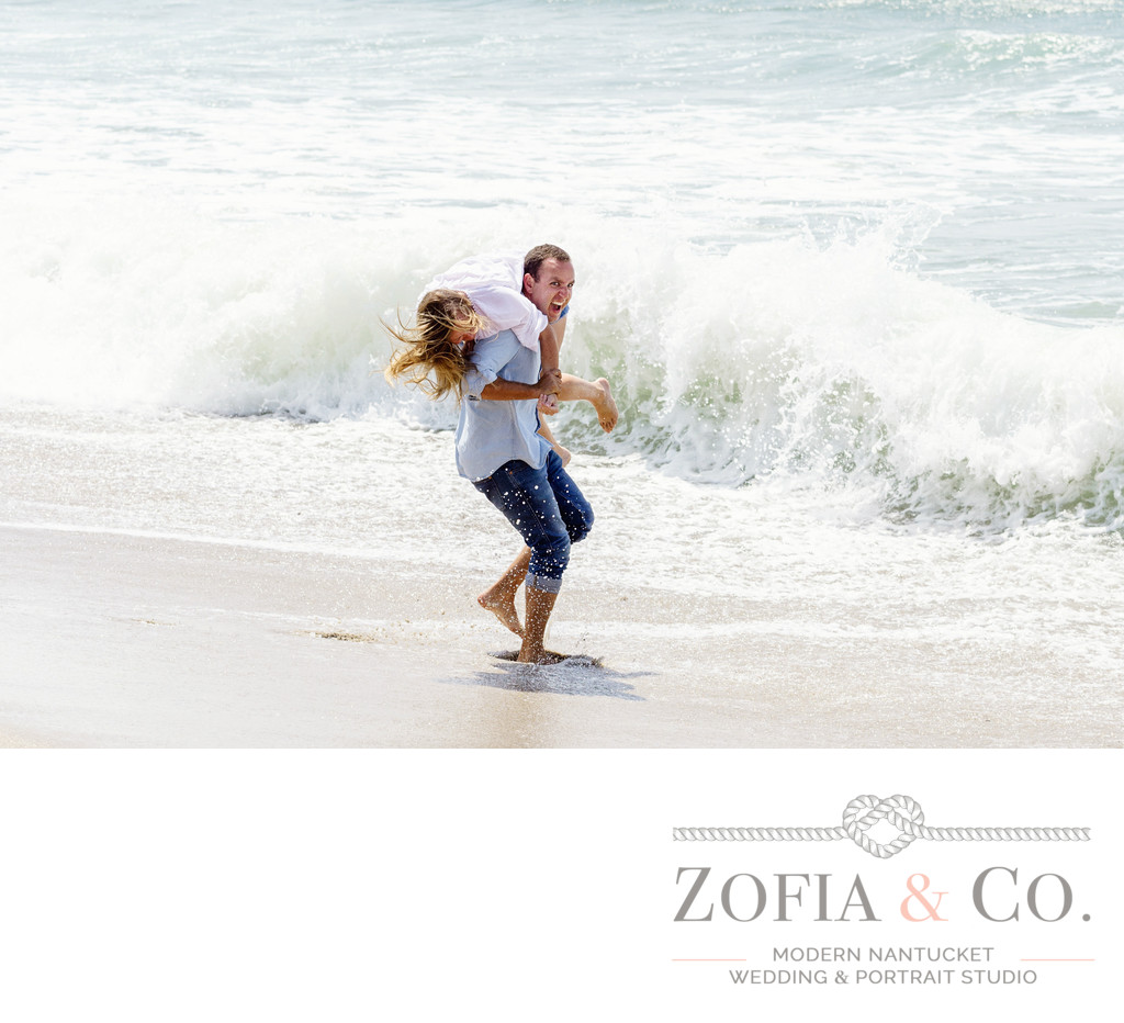 engagement session at the ocean nantucket photography