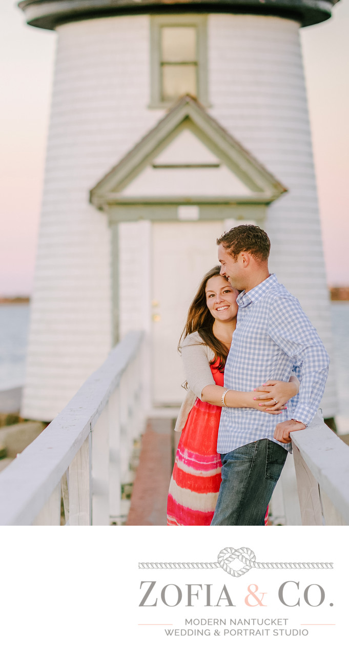 Brant Point Lighthouse Engagement Portraits