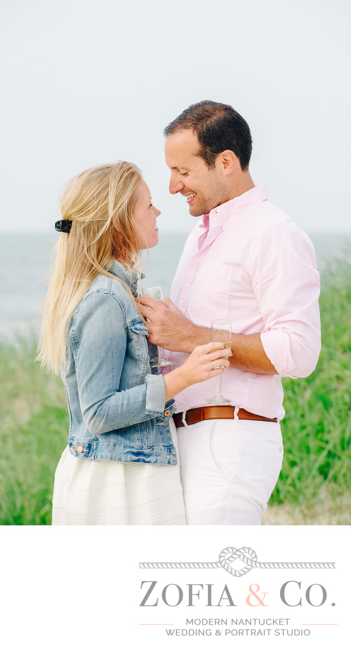 Nantucket beach proposal photography