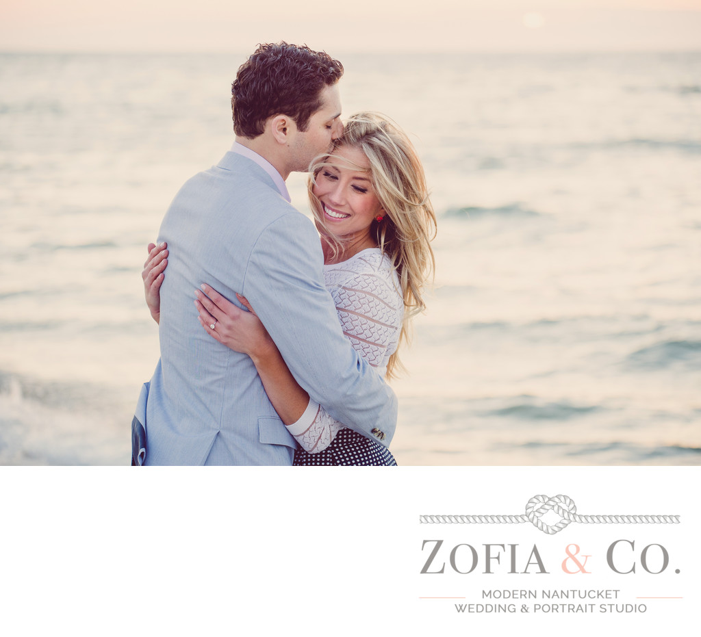 beach nantucket engagement session