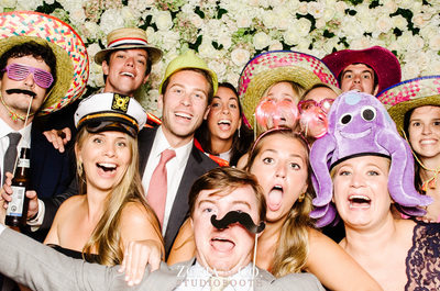 Nantucket Photo Booth StudioBooth flower wall