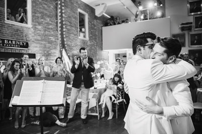 Grooms first dance at Whaling Museum