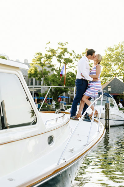 kissing on a boat nantucket harbor