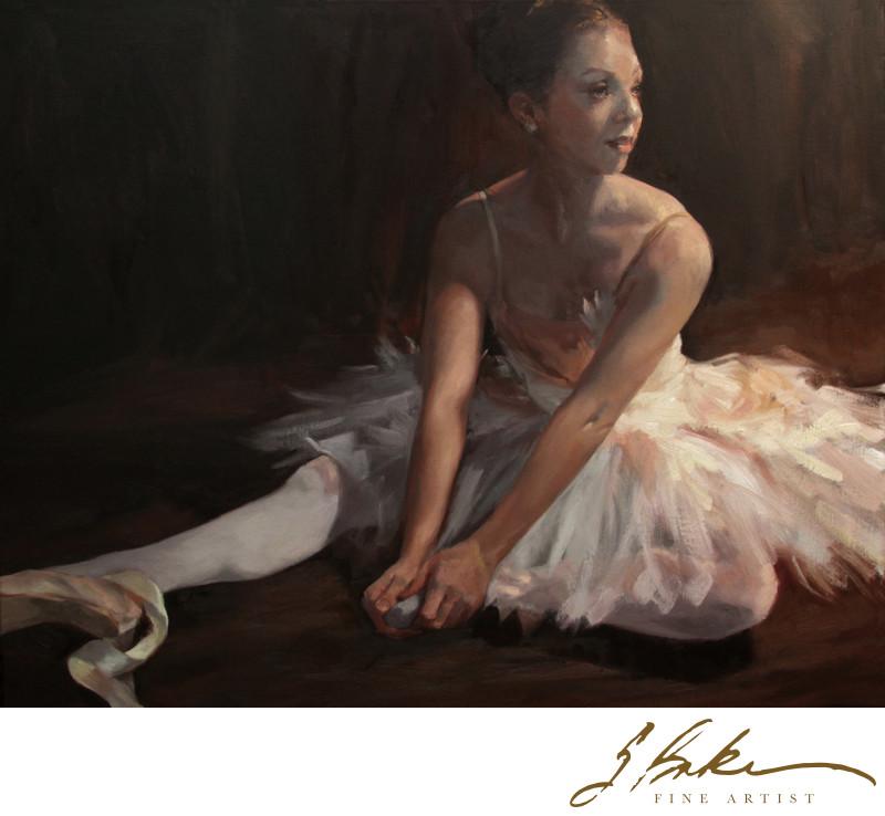 Ballerina Swan, 24x30