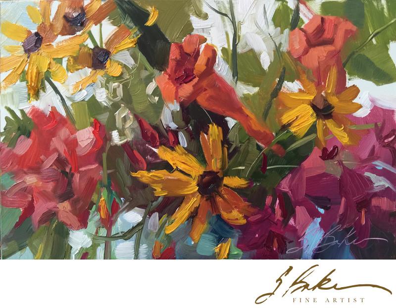 Sunroom Floral, 6x9