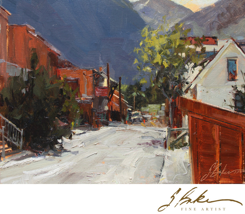 Alley Way, oil on linen, 12