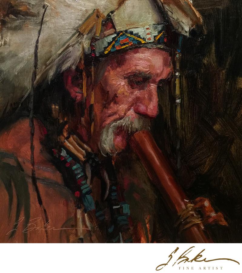 Wood Flute, 12x12