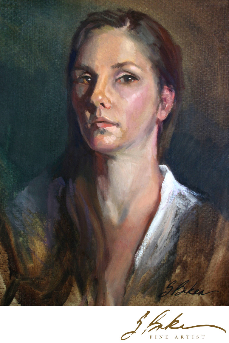 Oil painting portrait crafthubs self portrait oil painting of artist suzie baker baditri Image collections