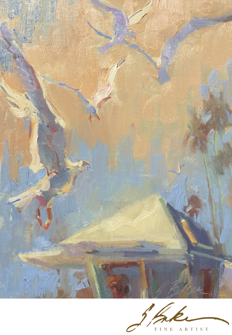 California Gulls, oil on linen, 9