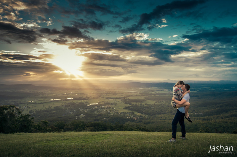 Brisbane Engagement Photography location-Tamborine