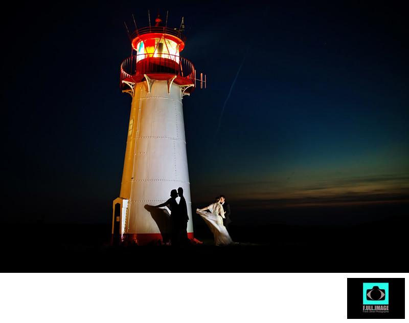 Sylt Brautpaar, Hochzeitsbilder, Leuchtturm