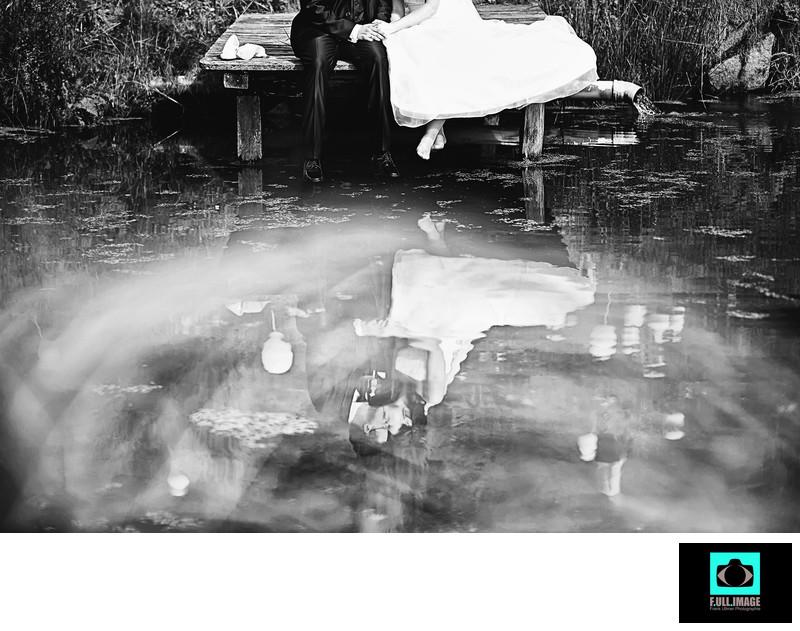 Reflection, Spiegelung, Bride and Groom, Brautpaar