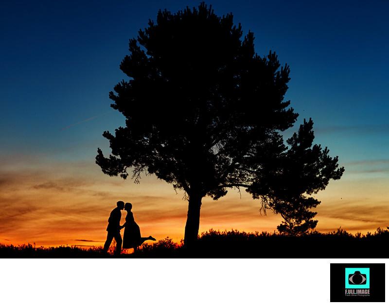 Kuss im Sonnenuntergang