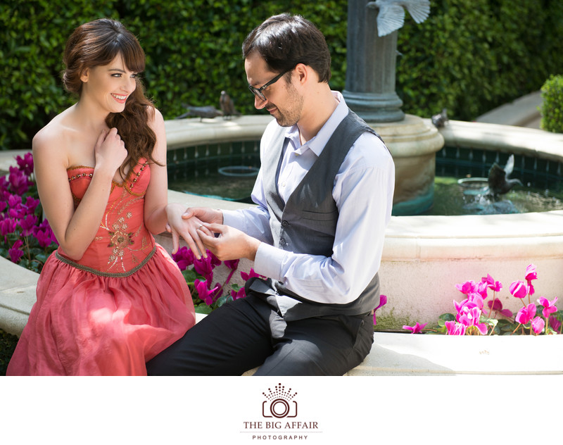 Peninsula Hotel Engagement Photography