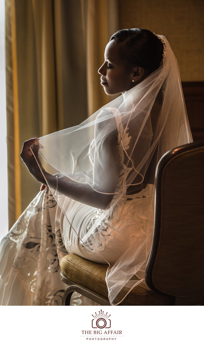 Bridal portrait at Bel-Air Bay Club