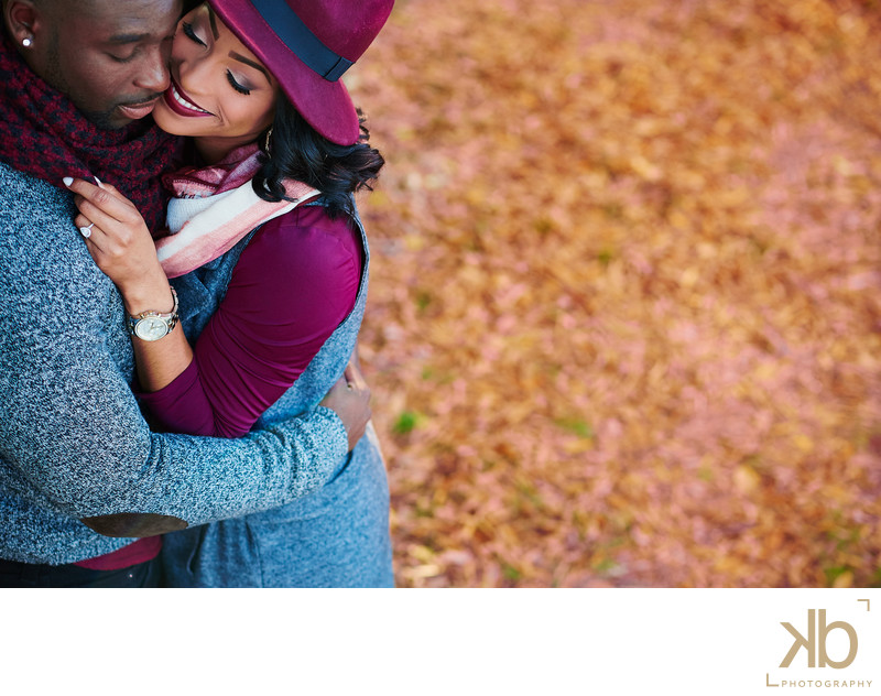 Romantic Washington DC Engagement Session in the Fall