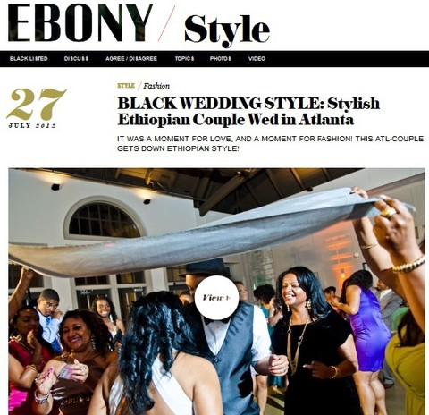 Ethiopian Wedding Photographer Featured in Ebony Magazine